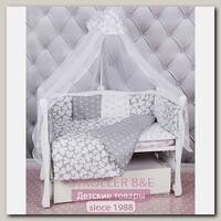 Комплект постели в кроватку AmaroBaby Silver, 18 предметов