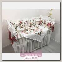 Комплект постели для прямоугольной кроватки Marele Терракотта 460227-12, 18 предметов