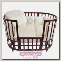 Комплект постельного белья в кроватку Nuovita Giardino reale 6 предметов (борт из 12 подушек)
