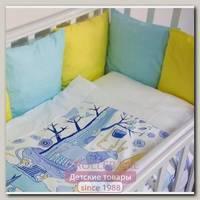 Комплект постельного белья ByTwinz Северное Сияние (6 предметов) с бортиками-подушками