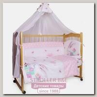 Комплект постельного белья в кроватку AmaroBaby Зайка, 7 предметов, сатин