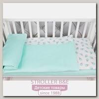 Комплект белья в кроватку WB AmaroBaby Baby Boom Мороженки, 3 предмета