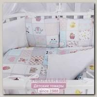 Комплект постельного белья в кроватку AmaroBaby Нежность, 18 предметов, сатин