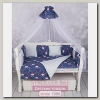Комплект постели WB Premium в кроватку AmaroBaby Лисички, 15 предметов, бязь