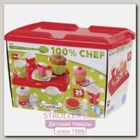 Набор Ecoiffier 100% Chef Завтрак на Подносе 2611, 25 предметов