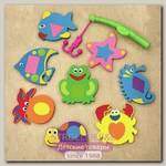 Набор игрушек для купания Funkids WaterFun-1 KB-050B, 8 предметов + удочка