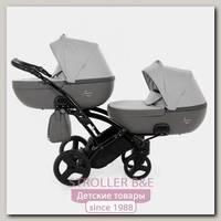 Детская коляска для двойни Junama Madena Duo Slim 2 в 1, ткань+эко-кожа