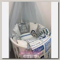 Комплект постели для круглой и овальной кроватки Marele Хельсинки 460224-ов, 17 предметов