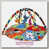 Развивающий коврик для новорожденного Funkids Color Zoo Gym