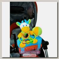 Развивающая игрушка подвеска на бампер коляски I-Baby Коровка
