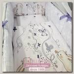 Комплект в кроватку ByTwinz Милые Зайцы (6 предметов)