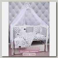 Комплект в кроватку AmaroBaby Good Night, 4 предмета, поплин / бязь