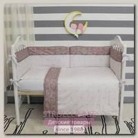 Комплект в кроватку ByTwinz Лилии (6 предметов)