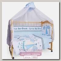 Комплект постельного белья в кроватку AmaroBaby Круиз, 7 предметов, сатин