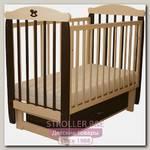 Детская кроватка Соня 04 Лошадка Колор, поперечный маятник, с ящиком