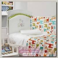 Комплект постели в кроватку Makkaroni Kids Giraffe 60 х 120 6 предметов