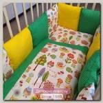 Комплект в кроватку ByTwinz Лесная Сказка, 6 предметов