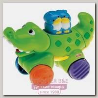 Веселые животные на колесиках с сюрпризом Fisher Price Крокодильчик