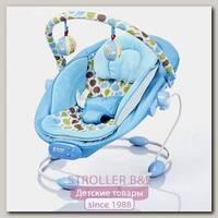 Детский шезлонг Bambola Piano Горошек голубой