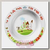 Глубокая тарелка Avent большая 12 м+
